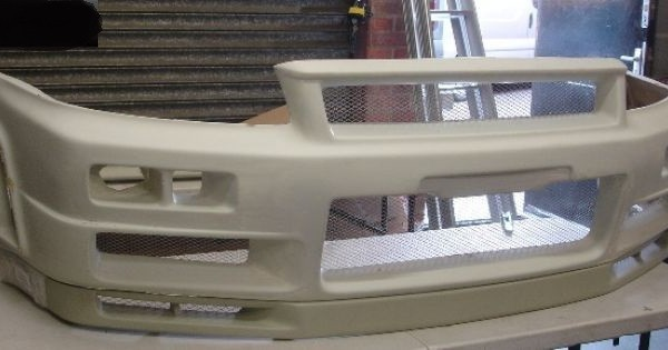 R34 GTR NI Style Front Bumper with Front Lip