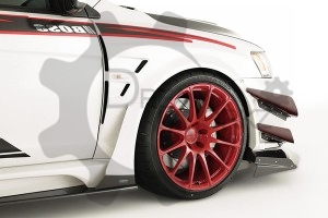 EVO 10 Varis Wide Ver. Wider Front Fender +35mm (4Pcs) FRP (1).
