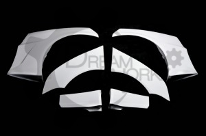 EVO 10 Varis Wide Ver.Wider Rear Over Fender (6Pcs) (6)