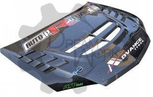 EVO 8 9 Voltex Cyber Evo  Hood (Track Version)(Not with hood latch)(1)