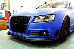 A5 Coupe S-line Face-lifted Tommykaira Style Front Bumper Cover(1)