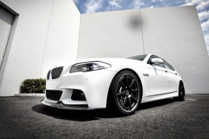 2010 F10 F18 5 Series Arkym Style Front Lip for M-Tech (9)