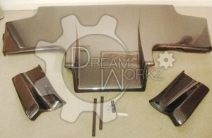 R32 GTR Top-Secret Rear Diffuser with Metal Fitting Accessories 3pcs (2)