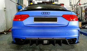 A5 Coupe Pre Face-lifted Tommykaira Style Rear Bumper(2)
